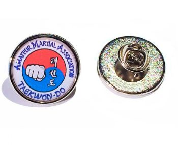 Premium Badge 21mm round silv clutch and printed dome
